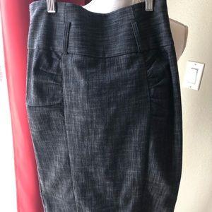 Iz Byer Skirts - Heathered black skirt